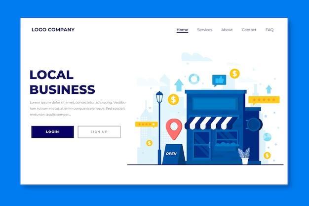 Page de destination de l'entreprise locale