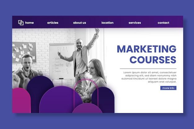 Page De Destination De L'entreprise De Marketing Vecteur gratuit