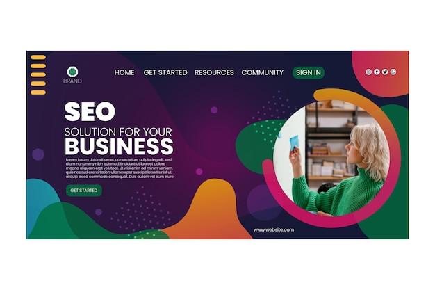 Page de destination de l'entreprise seo