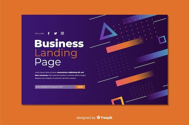 Page de destination de l'entreprise
