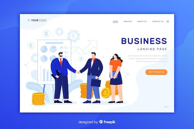 Page de destination entreprise