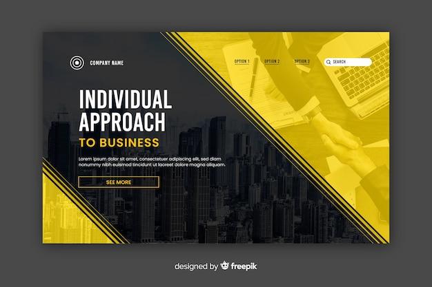 Page de destination des entreprises à approche individuelle