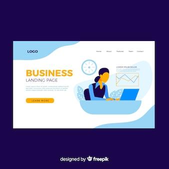 Page de destination des entreprises modernes