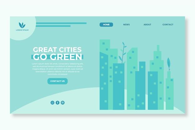 Page de destination de l'environnement de l'environnement