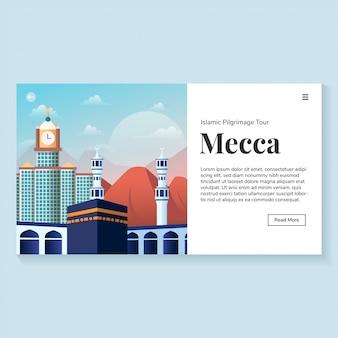 Page de destination de l'environnement de la mecque