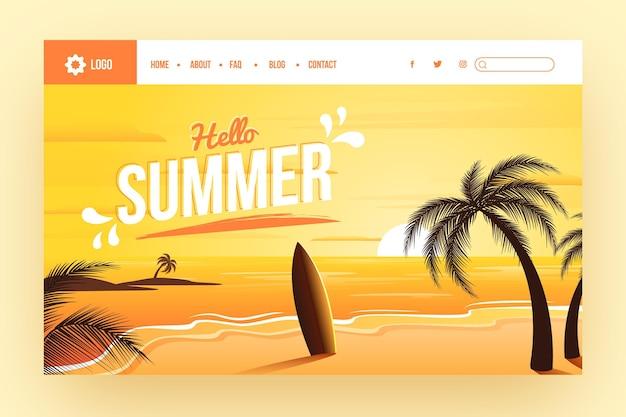 Page de destination de l'été dégradé