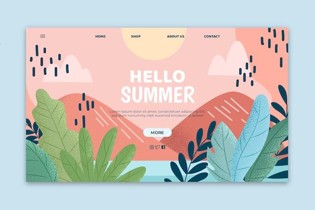Page de destination d'été mignon