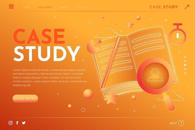 Page de destination de l'étude de cas en dégradé