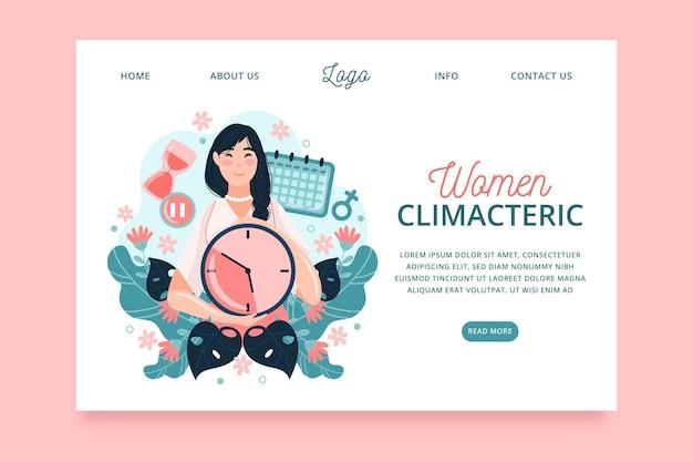 Page de destination des femmes climactériques