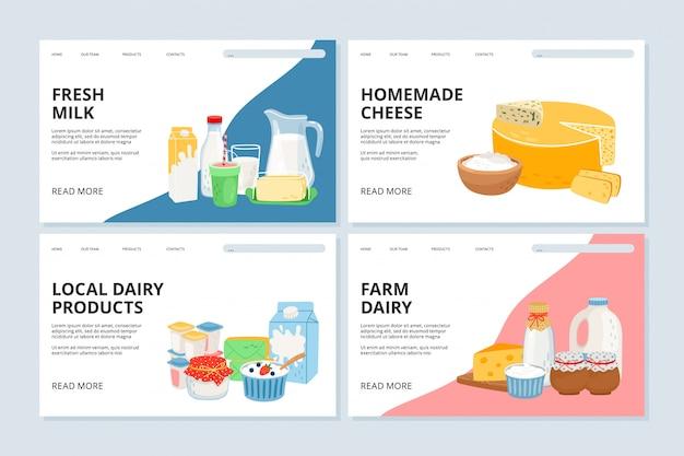 Page de destination de la ferme laitière