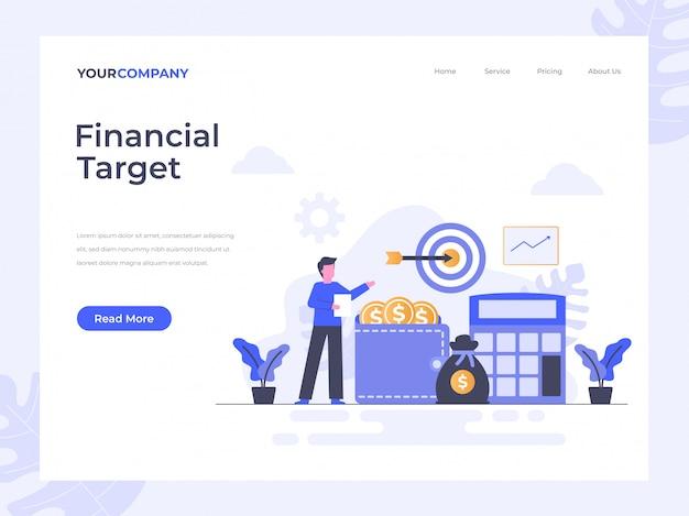 Page de destination financière cible
