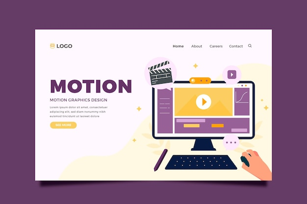 Page de destination flat motiongraphics