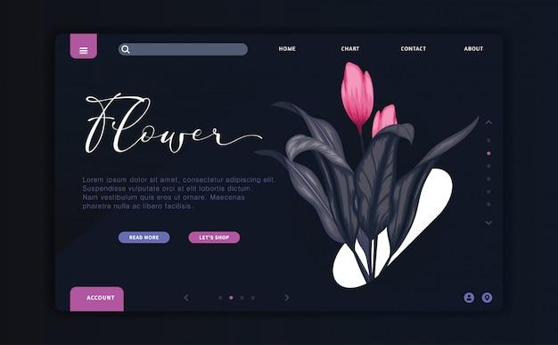 Page de destination florale