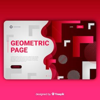 Page de destination des formes de dégradé géométrique
