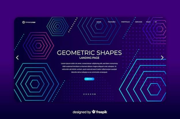 Page de destination des formes géométriques