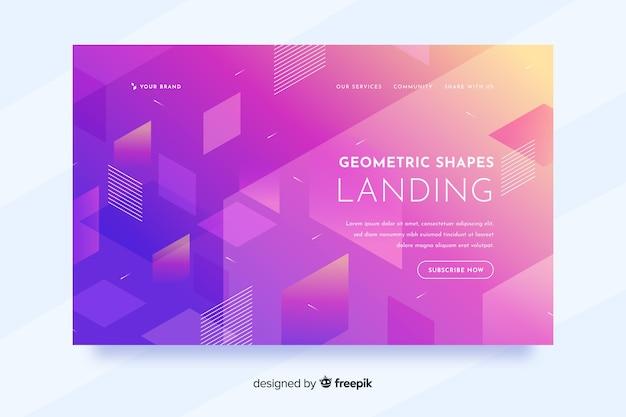 Page de destination formes géométriques