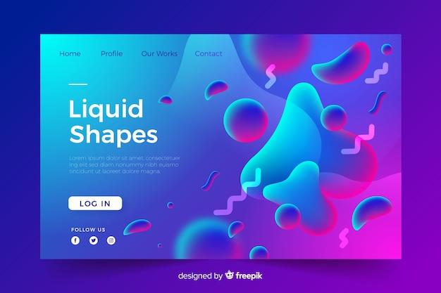 Page de destination formes liquides