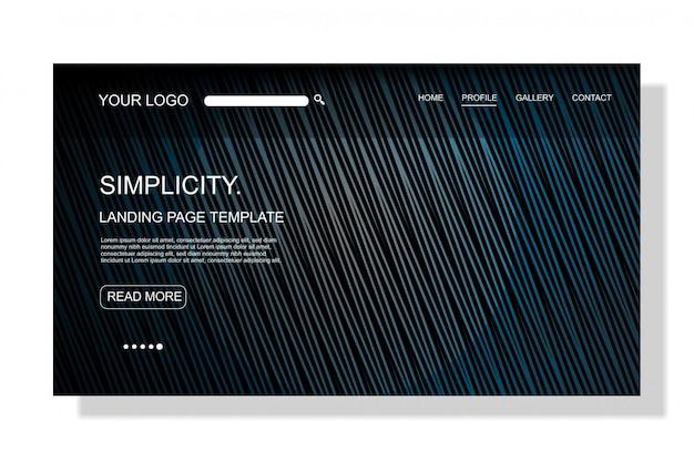 Page de destination futuriste ou entreprise de technologie de modèle web