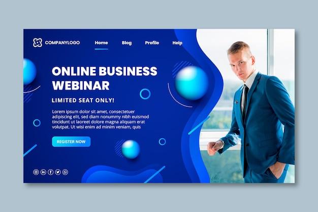 Page de destination générale de l'entreprise
