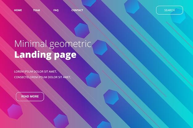 Page de destination géométrique minimale