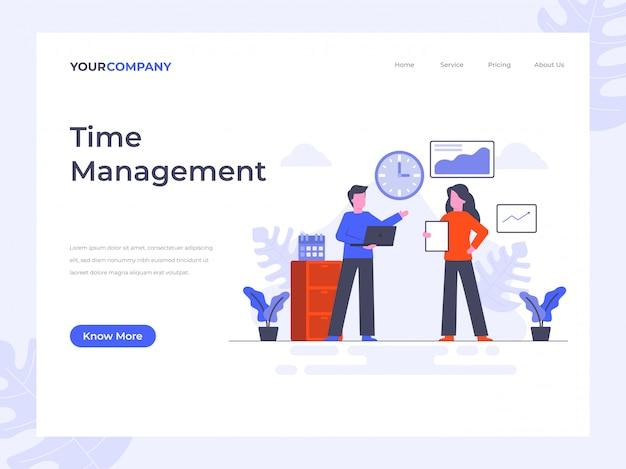 Page de destination de gestion du temps