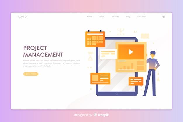 Page de destination de la gestion de projet