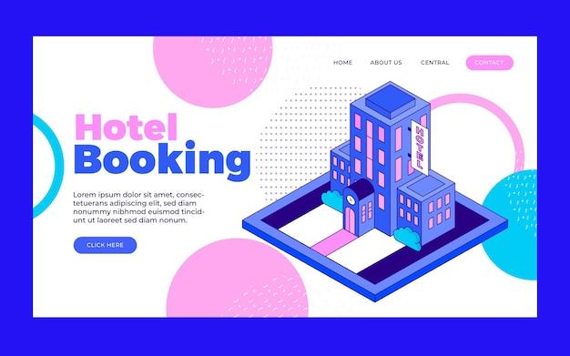 Page de destination de l & # 39; hôtel créatif avec illustration