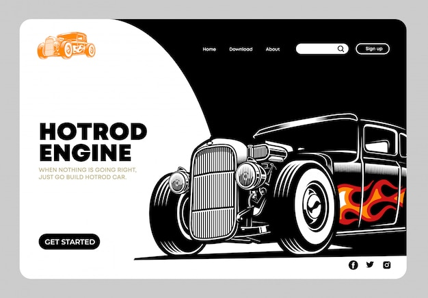 Page de destination hotrod