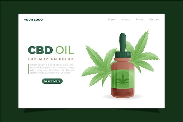 Page de destination de l'huile de cannabis