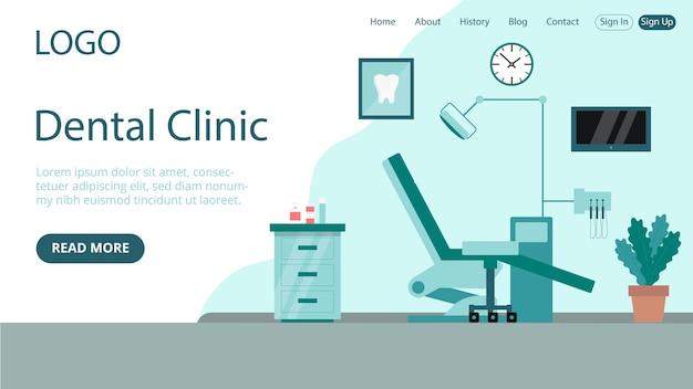 Page de destination de l'idée d'une clinique dentaire