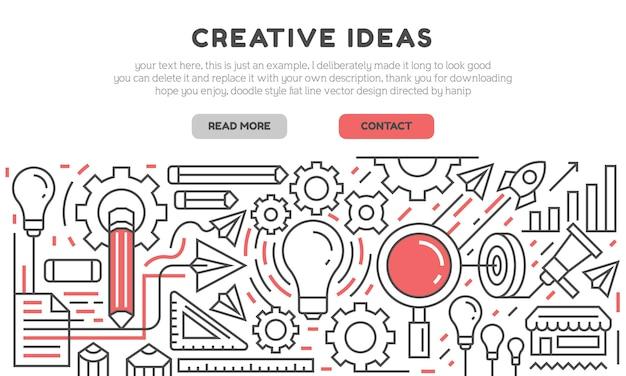 Page de destination des idées créatives