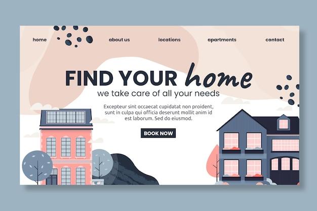 Page de destination de l'immobilier