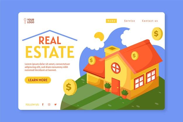 Page de destination immobilière