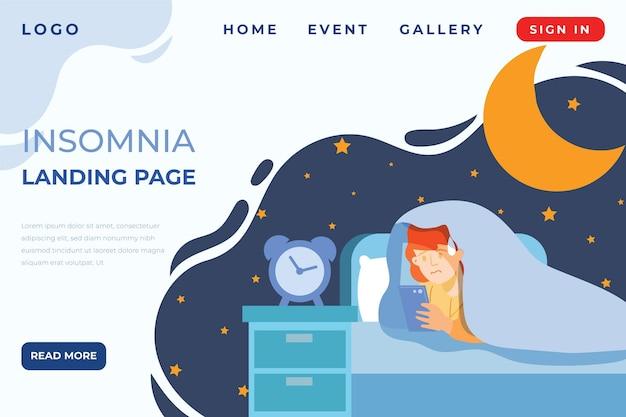 Page de destination de l'insomnie