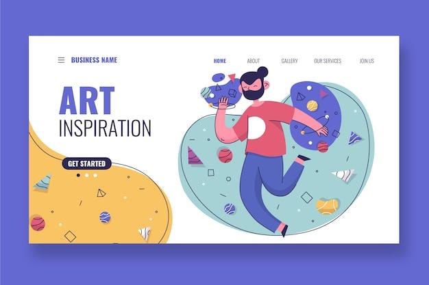 Page de destination d'inspiration d'art plat organique