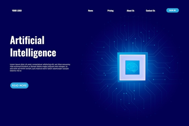 Page de destination de l'intelligence artificielle
