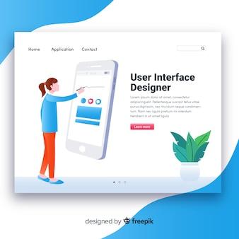 Page de destination de l'interface utilisateur