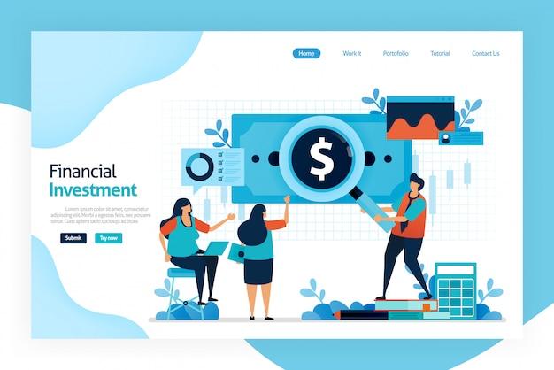 Page de destination de l'investissement financier