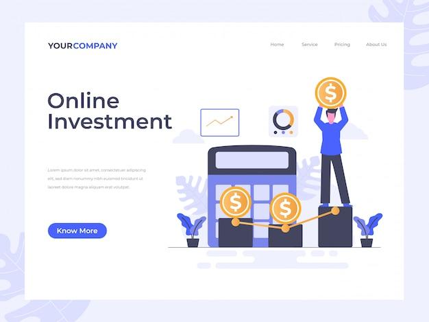 Page de destination de l'investissement en ligne