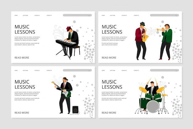 Page de destination de la leçon de musique