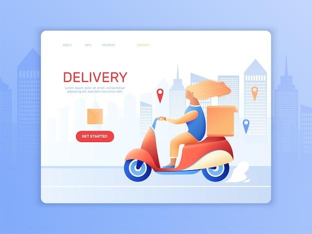 Page de destination de la livraison par courrier