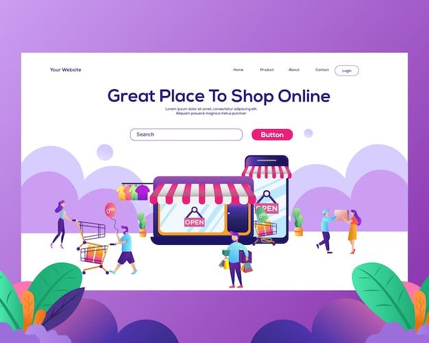 Page de destination. magasin en ligne