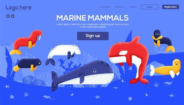 Page de destination des mammifères marins