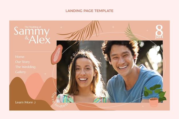 Page De Destination De Mariage Dessinée à La Main Vecteur gratuit