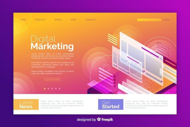 Page de destination marketing numérique