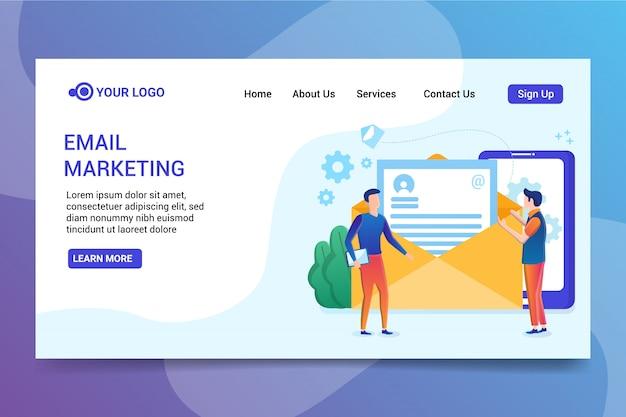 Page de destination de marketing par e-mail