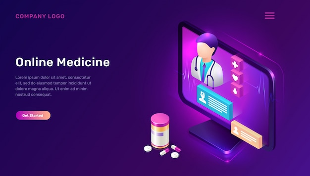 Page de destination de la médecine en ligne