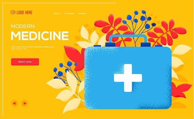 Page de destination de la médecine moderne