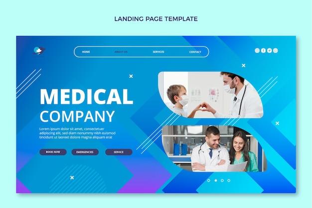 Page de destination médicale dégradée
