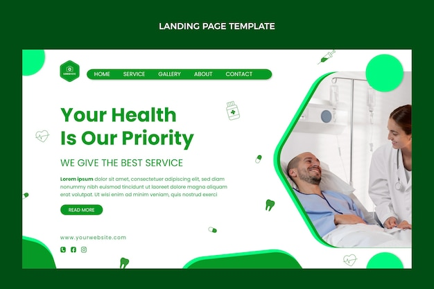Page de destination médicale design plat